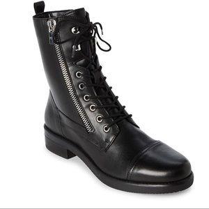 MARC FISHER NWOT leather mfulinn combat boots 9.5